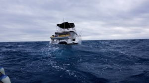 charter boat in rough seas